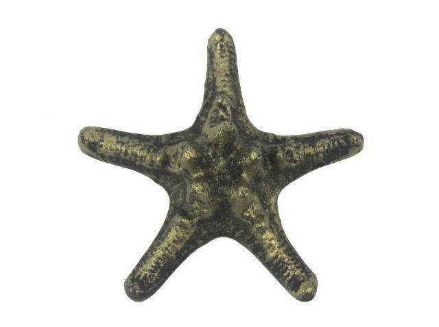 Antique Gold Cast Iron Decorative Starfish 4.5