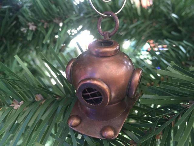 Antique Copper Diving Helmet Christmas Ornament 5