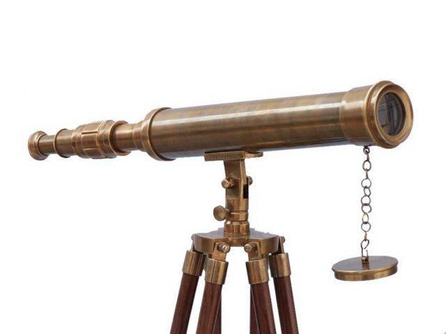 Floor Standing Antique Brass Harbor Master Telescope 50