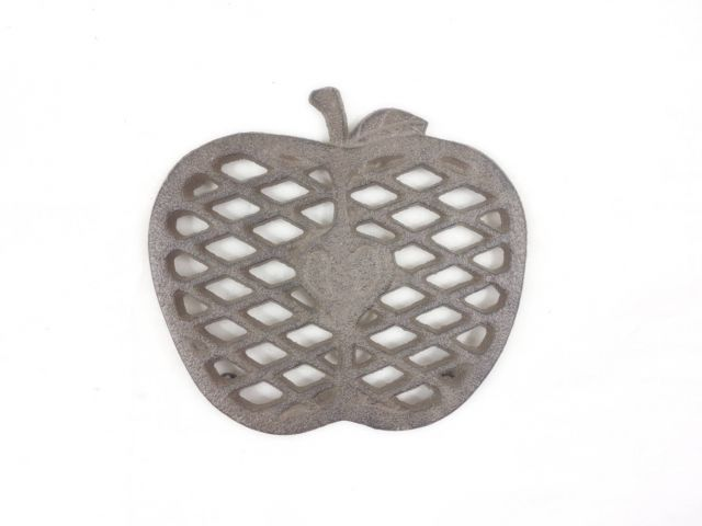 Cast Iron Apple Kitchen Trivet 6