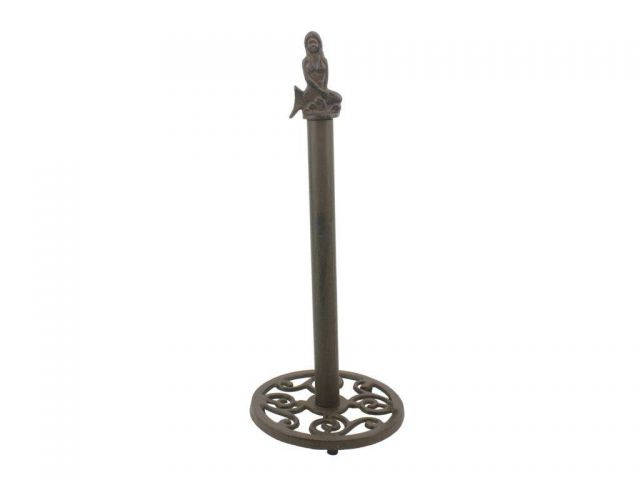 Cast Iron Mermaid Extra Toilet Paper Stand 16