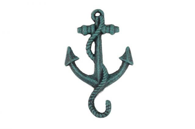 Seaworn Blue Cast Iron Anchor Hook 5