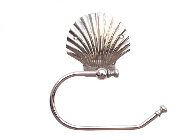 Chrome Seashell Toilet Paper Holder 10