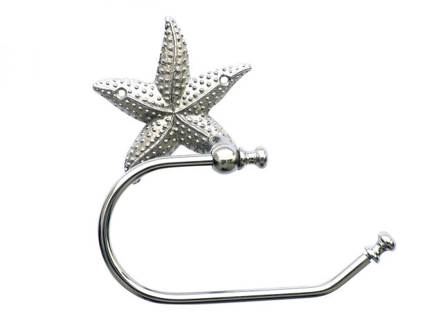 Chrome Starfish Hand Towel Holder 10