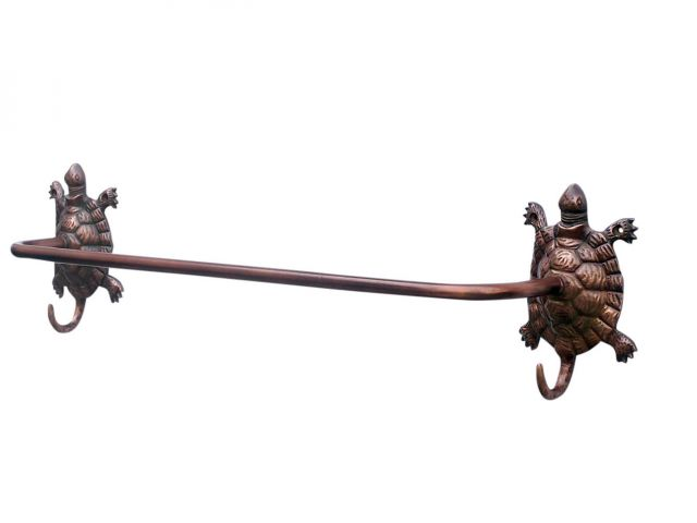 Antique Copper Turtle Bath Towel Holder 28