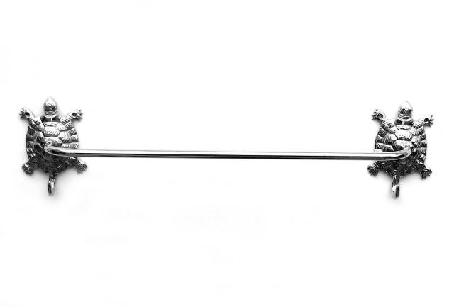 Chrome Turtle Bath Towel Holder 28
