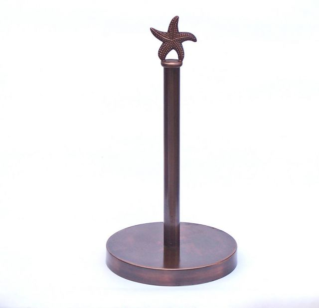 Antique Copper Starfish Extra Toilet Paper Stand 16