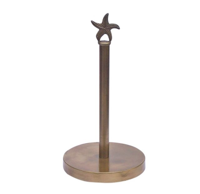 Antique Brass Starfish Paper Towel Holder 16