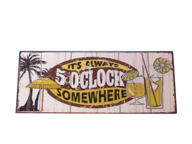Metal 5 0Clock Sign 12
