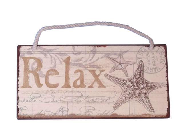 Tin Relax Sign 8