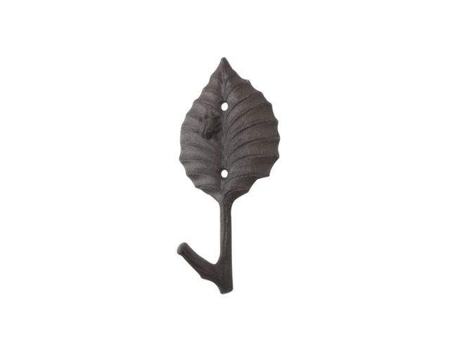 Cast Iron Birch Tree Leaf Decorative Metal Tree Branch Hook 5.5