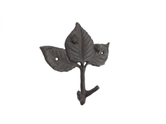 Cast Iron Birch Tree Leaves Decorative Metal Tree Branch Hooks 6.5