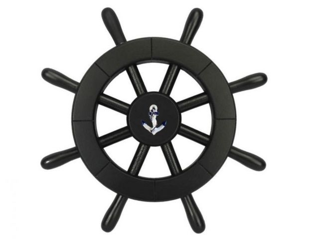 Pirate Decorative Ship Wheel With Anchor 12