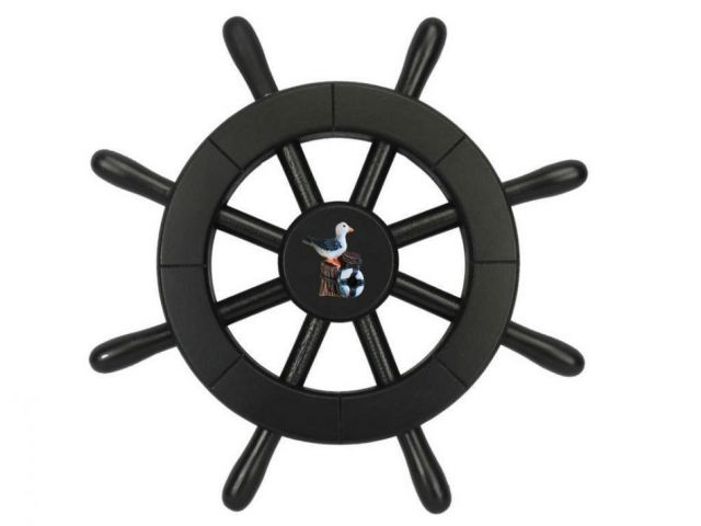 Pirate Decorative Ship Wheel With Seagull 12