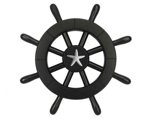 Pirate Decorative Ship Wheel With Starfish 12