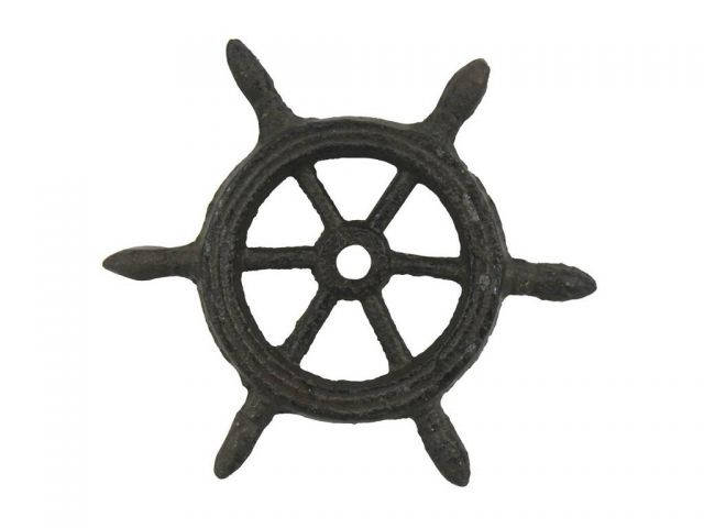 Cast Iron Ship Wheel Decorative Paperweight 4