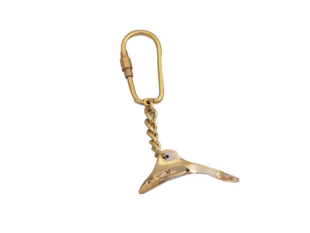 Solid Brass Dolphin Key Chain 4