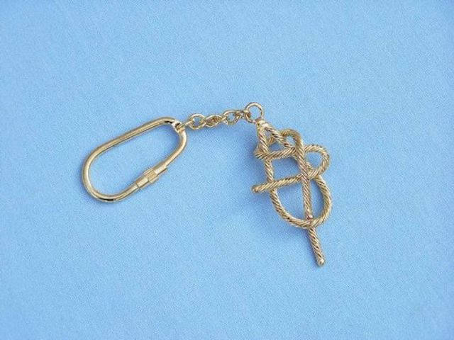 Solid Brass Sheet Band Knot Key Chain 5