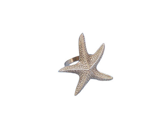 Brass Starfish Napkin Ring 3