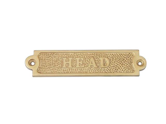 Brass Head Sign 6