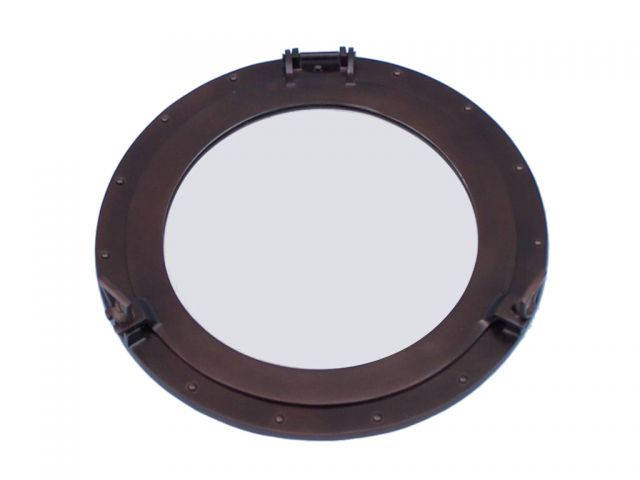 Bronze Deluxe Class Decorative Ship Porthole Mirror 17