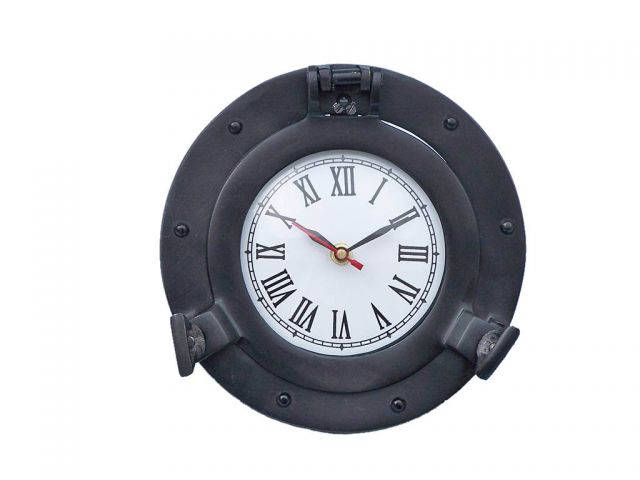 Oil Rubbed Bronze Deluxe Class Porthole Clock 8
