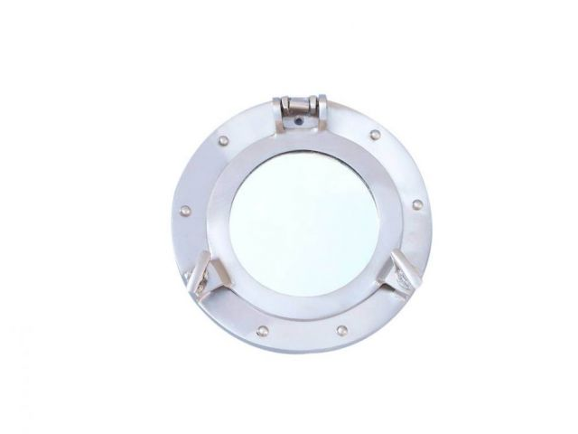 Brushed Nickel Deluxe Class Decorative Ship Porthole Window 8