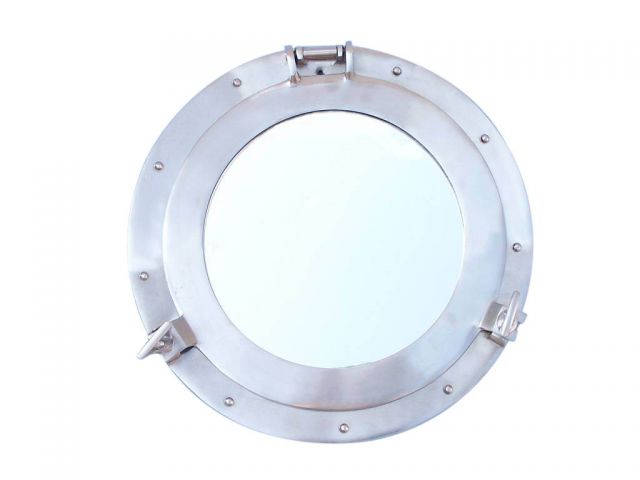 Brushed Nickel Deluxe Class Decorative Ship Porthole Window 12