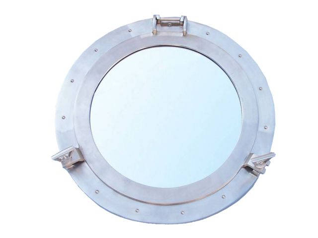 Brushed Nickel Deluxe Class Decorative Ship Porthole Window 24