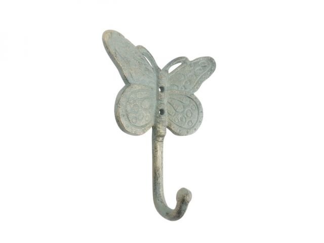 Antique Bronze Cast Iron Butterly Decorative Metal Wall Hook 5