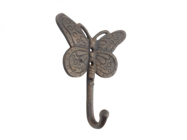 Rustic Copper Cast Iron Butterly Decorative Metal Wall Hook 5