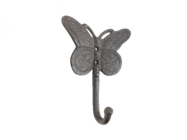 Cast Iron Butterly Decorative Metal Wall Hook 5