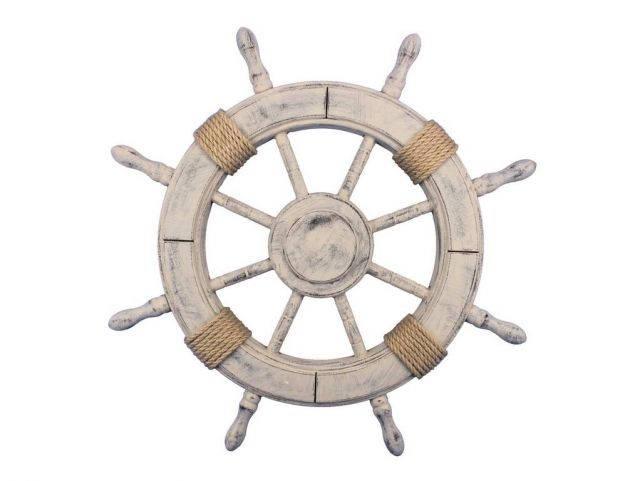 Rustic Decorative Ship Wheel 24