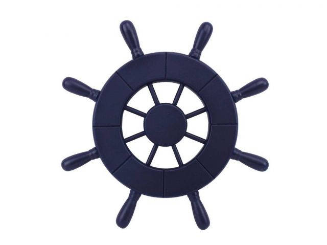 Dark Blue Decorative Ship Wheel 9