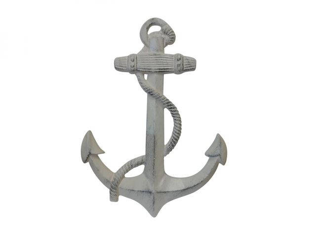 Aged White Cast Iron Anchor 17