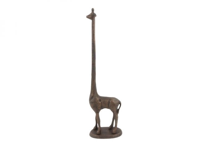 Rustic Copper Cast Iron Giraffe Paper Towel Holder 19