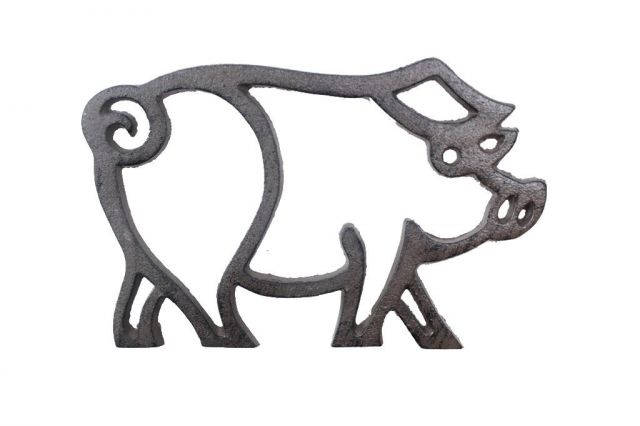 Cast Iron Pig Shaped Trivet 8
