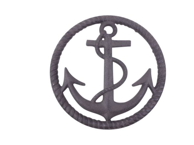 Cast Iron Anchor and Rope Nautical Kitchen Trivet 7