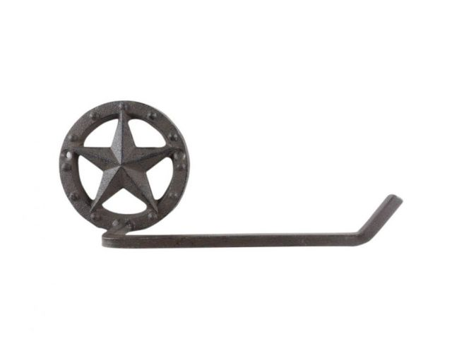 Cast Iron Lone Star Bathroom Toilet Paper Holder 10