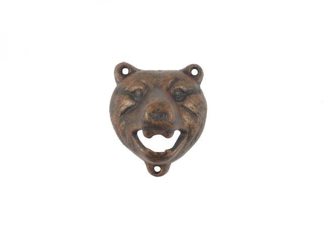 Rustic Copper Cast Iron Bear Bottle Opener 4