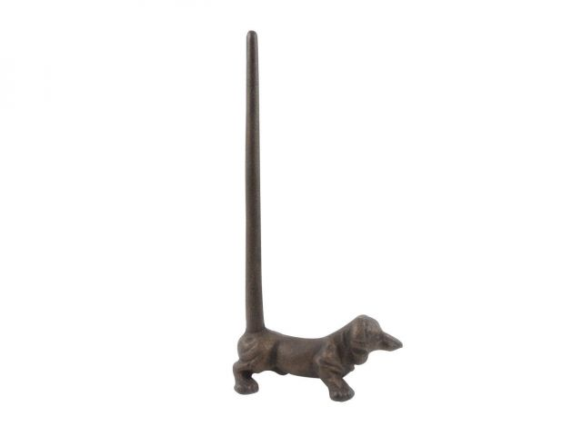 Rustic Copper Cast Iron Dog Paper Towel Holder 12