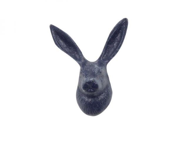 Rustic Dark Blue Cast Iron Decorative Rabbit Hook 5