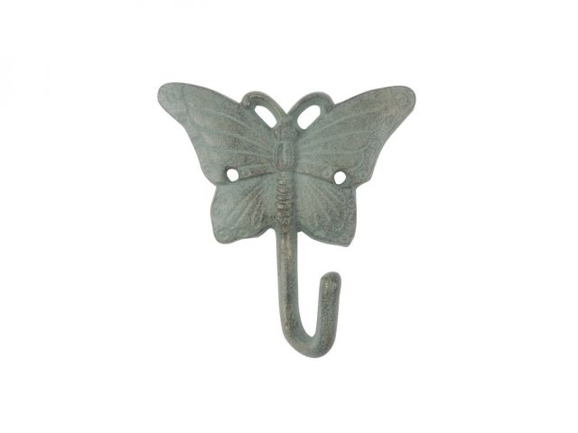 Antique Seaworn Bronze Cast Iron Butterfly Hook 6
