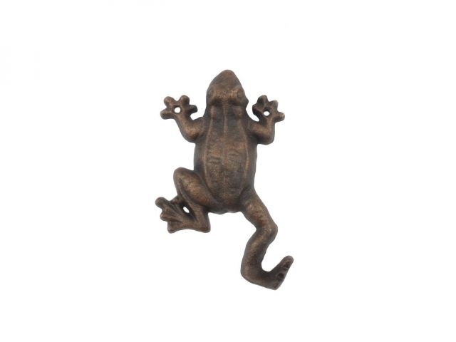 Rustic Copper Cast Iron Frog Hook 6