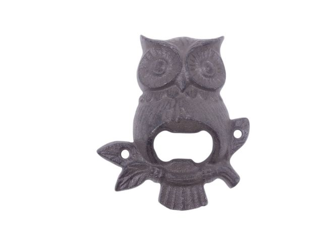 Cast Iron Owl Wall Mounted Bottle Opener 6