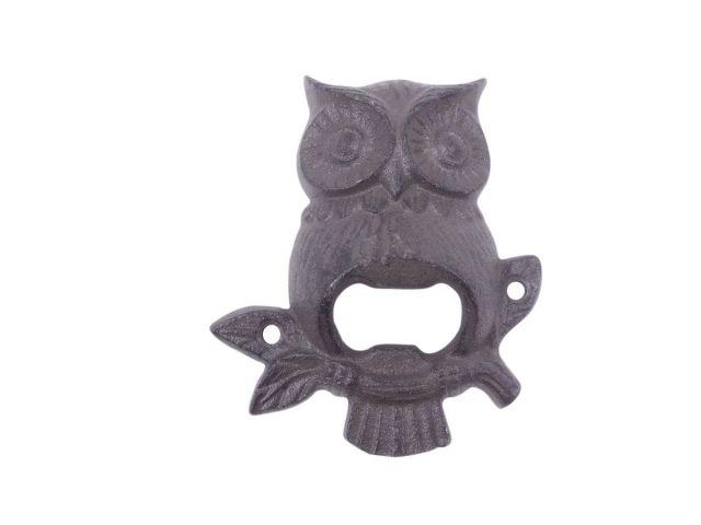 Cast Iron Owl Wall Mounted Bottle Opener 6