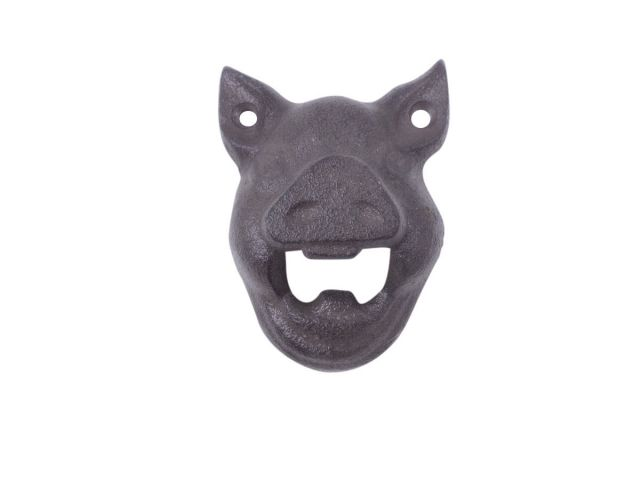 Cast Iron Pig Head Wall Mounted Bottle Opener 4