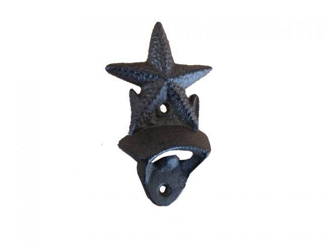 Cast Iron Wall Mounted Starfish Bottle Opener 6