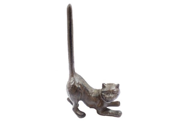 Cast Iron Cat Extra Toilet Paper Stand 10