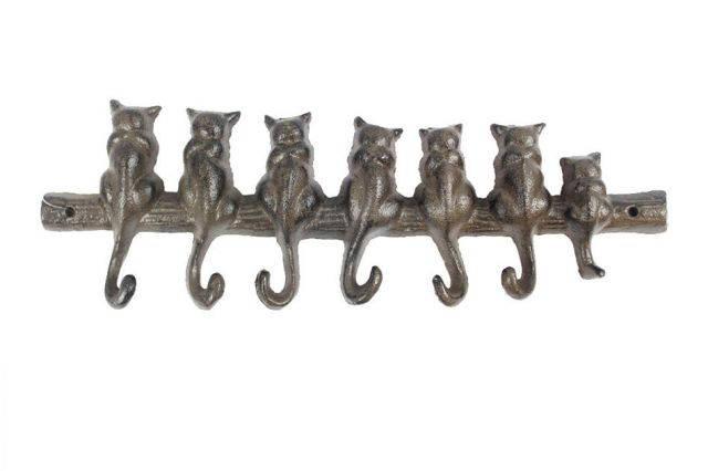 Cast Iron Cat Wall Hooks 13